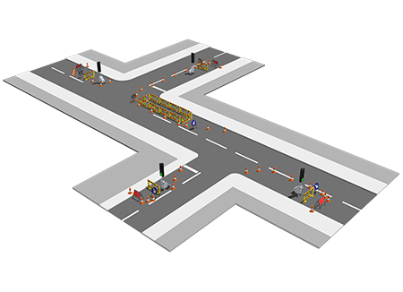 Multi-way vehicle control
