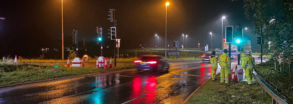 Chevron commissioning Metro traffic lights